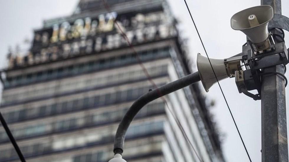Este lunes se realizará simulacro de sismo en la Ciudad de México - LOCATEL dio a conocer los pasos a seguir para que los ciudadanos reporten los altavoces que no funcionaron durante el simulacro