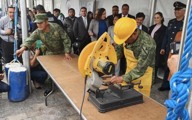 Retirar y destruir unas cuatro mil 500 armas, meta de CDMX para 2020 - Foto de @PabloVazC