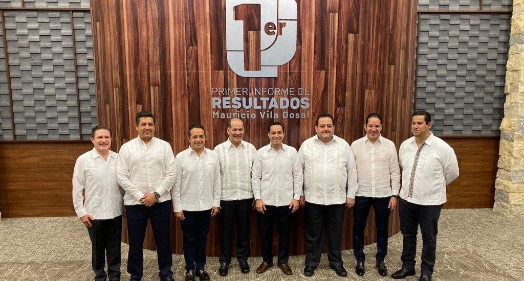 Gobernadores panistas presentan plan alterno al Insabi - Ocho de los nueve gobernadores panistas. Foto de @GOAN_MX