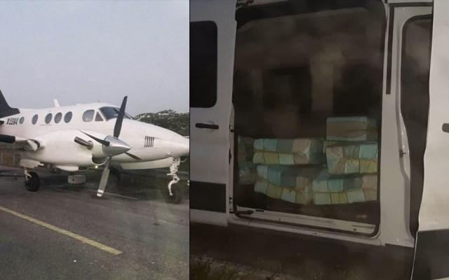 Militares aseguran droga y detienen a dos sujetos tras agresión en Quintana Roo - Avión Quintana Roo armas droga