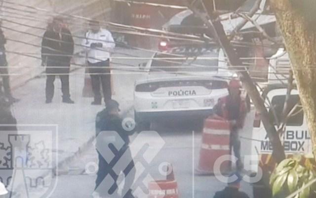 Caída de andamio deja tres heridos en Álvaro Obregón - Caída de andamio deja tres heridos en Álvaro Obregón