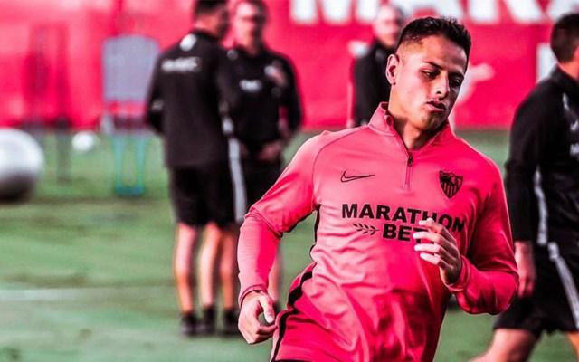 Sevilla omite convocar a Chicharito para enfrentar al Real Madrid - Javier 'Chicharito' Hernández. Foto de ch14_