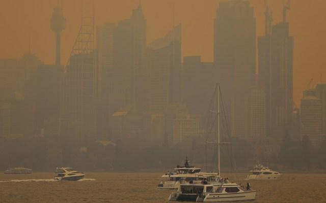 Se eleva a 29 número de víctimas por incendios en Australia - Contaminación por incendios en Australia. Foto de EFE