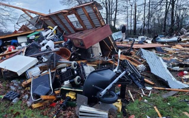 Se eleva a 11 número de víctimas por tormentas en Estados Unidos - Daños por tormenta en EE.UU. Foto de Bossier Parish Sherif's Office