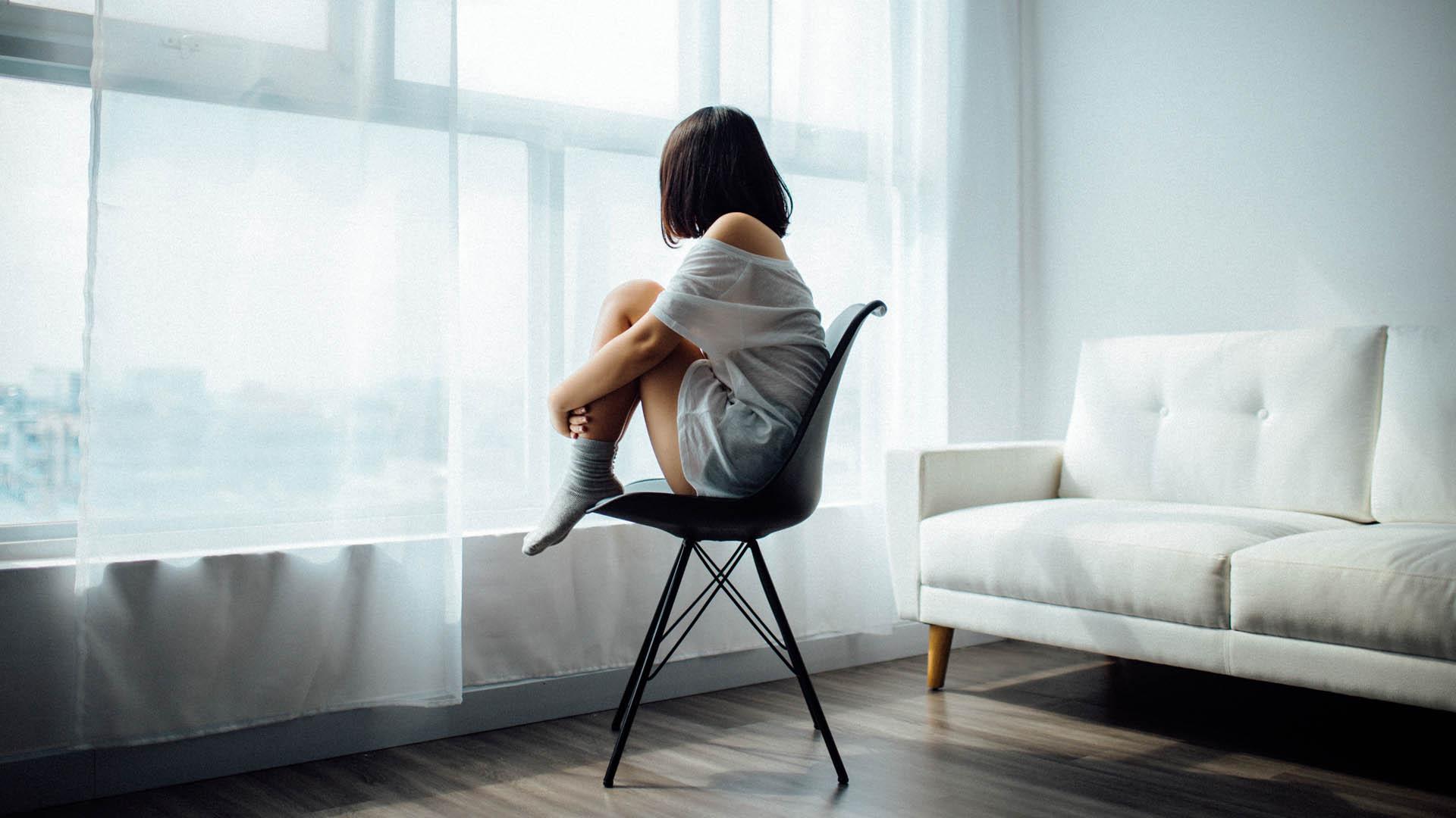 Depresión mujeres soledad mujer