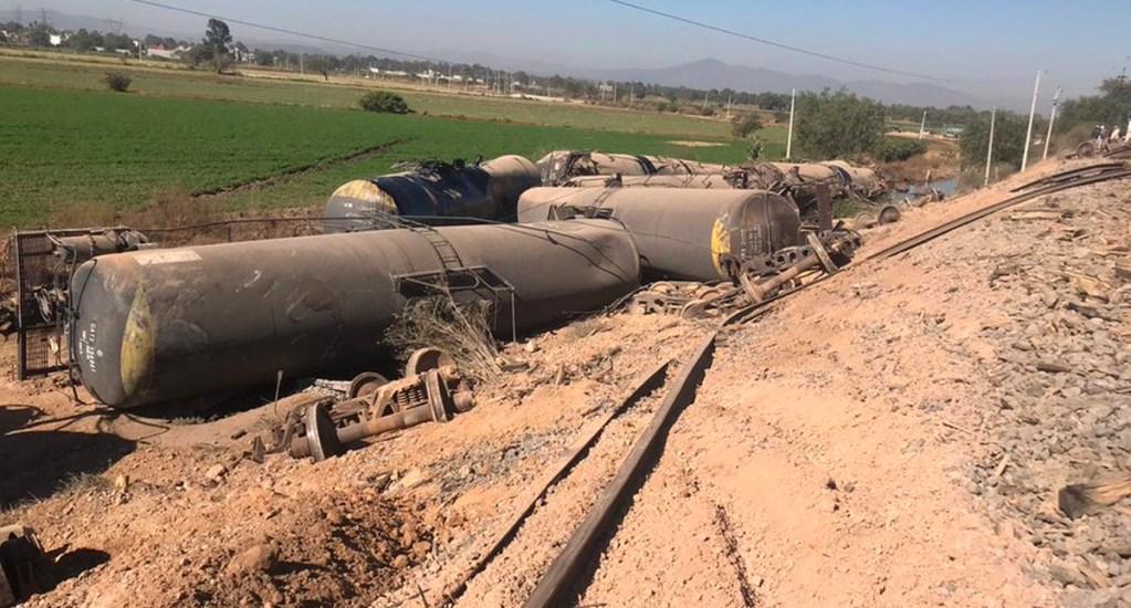 Descarrila tren con combustible en Tula, Hidalgo - Descarrila tren con combustible en Tula, Hidalgo