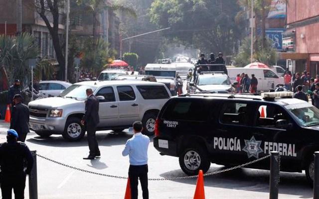 Fiscal de EE.UU. llega a México; se reúne con Gertz Manero - Despliegue policiaco por llegada de William Barr a la FGR. Foto de Milenio