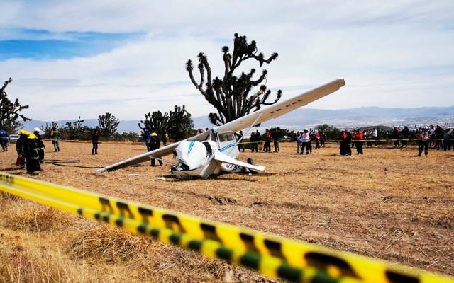 Se desploma avioneta en Pachuca, Hidalgo - Desplome de avión pequeño en Pachuca. Foto de News Hidalgo