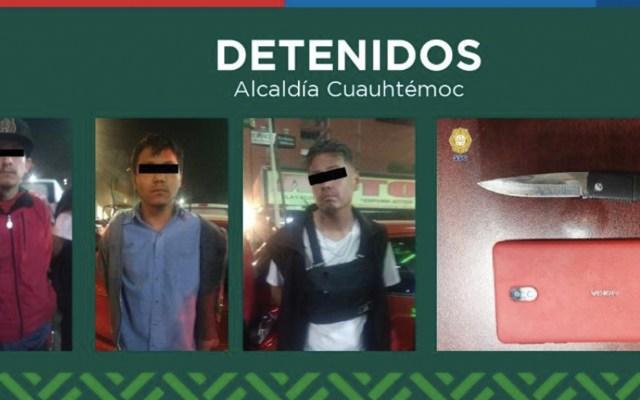 SSC detiene a presuntos ladrones en alcaldías Cuauhtémoc e Iztacalco - Foto de Alcaldía Cuauhtémoc