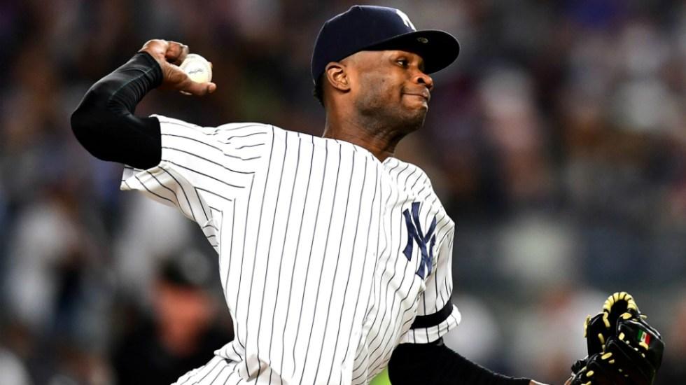 Lanzador de Yankees es suspendido 81 partidos por violencia doméstica - Foto de MLB.com