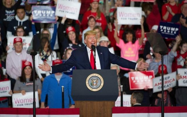 """""""México está, de hecho, pagando por el muro"""", asegura Trump en rally - Donald Trump Estados Unidos Nueva Jersey"""
