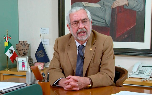 Graue pide evitar provocaciones por paros en Facultad de Filosofía y Prepas - Enrique Graue Wiechers Rector de la UNAM