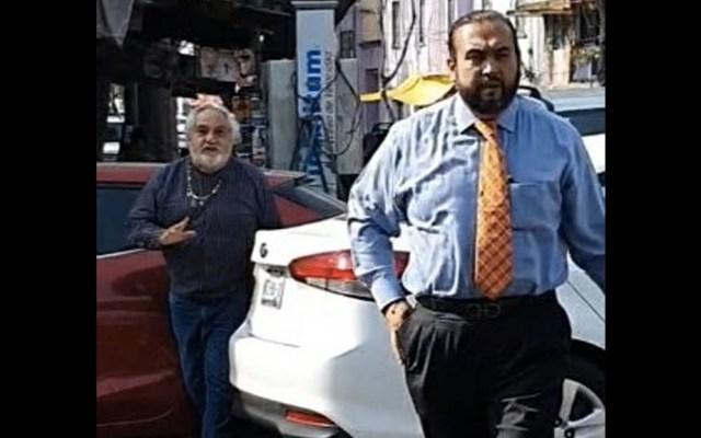#Video Presuntos miembros de la FGJ CDMX amenazan a ciudadano - FGJ amenaza Ciudad de México