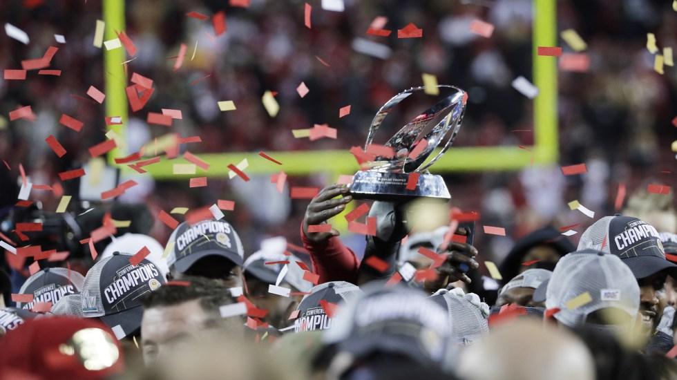 San Francisco vs. Kansas City, el Super Bowl LIV - San Francisco, campeón de la Conferencia Nacional. Foto de EFE/EPA/JUSTIN LANE.