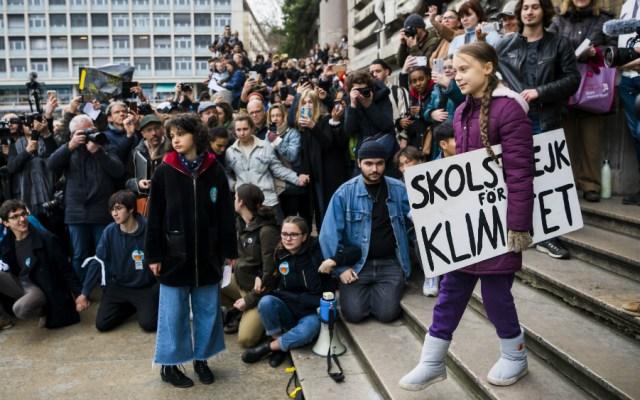 Greta Thunberg regresa a las manifestaciones por el clima - Foto de EFE