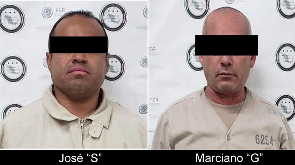 FGR entrega en extradición a dos hombres buscados en EE.UU. - Hombres extraditados a EE.UU. Foto de @FGRMexico