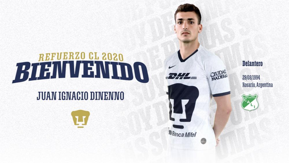 Pumas oficializa la contratación del argentino Juan Dinenno - Foto de Pumas de la UNAM