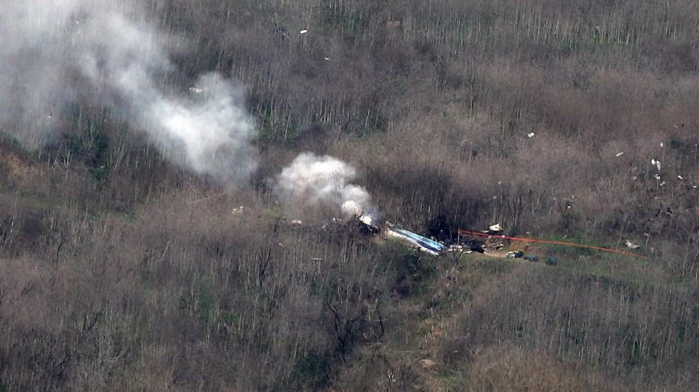 Recuperan los nueve cuerpos de las víctimas del accidente en el que murió Kobe Bryant - Kobe Bryant accidente Helicóptero