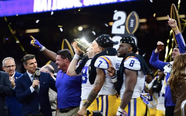 LSU gana el campeonato nacional de la NCAA - LSU NCAA campeonato colegial 2