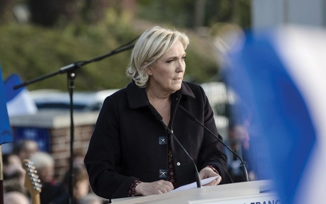 Marine Le Pen anunció su candidatura presidencial en 2022 - Foto de Bloomberg