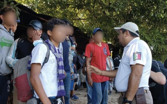 INM rescata a 800 migrantes que ingresaron a México por Chiapas - Foto de Twitter INM