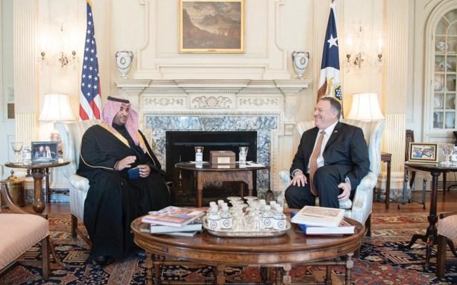 Pompeo asegura a Arabia Saudita que EE.UU. no busca una guerra con Irán - Foto de Twitter @kbsalsaud