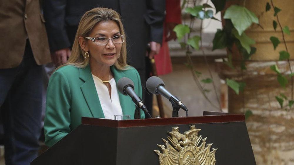 Ministros de Bolivia comienzan a renunciar tras petición de Jeanine Áñez - La presidenta interina boliviana, Jeanine Áñez.