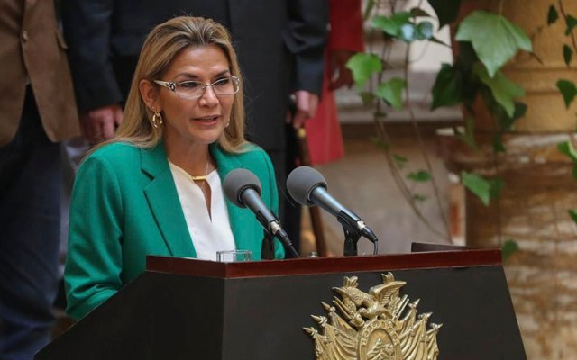 Presidenta interina de Bolivia, Jeanine Áñez, da positivo a COVID-19 - La presidenta interina boliviana, Jeanine Áñez.