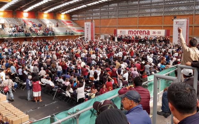 Realizan congreso extraordinario de Morena sin Yeidckol Polevnsky - Foto de @FilipoOcadiz