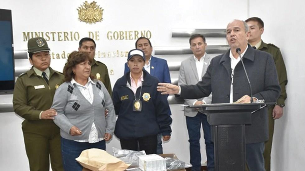 Detienen a mujer acusada de 'financiar' actividades de Evo Morales - Foto de internet