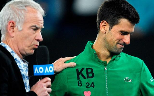 Novak Djokovic rompe en llanto al recordar a Kobe Bryant - Novak Djokovic rompe en llanto al recordar a Kobe Bryant