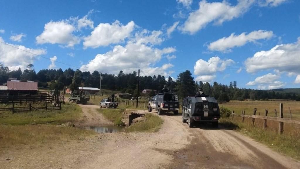 Comando incendia 22 casas y 7 vehículos en Madera, Chihuahua - Foto de Comunicación Social Chihuahua