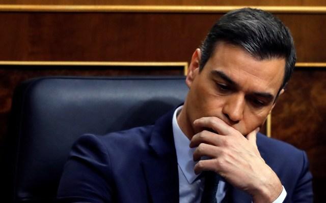 Pedro Sánchez no logra la mayoría en el Congreso español para investidura - Pedro Sánchez en el Congreso de España durante votación para su investidura como presidente. Foto de EFE