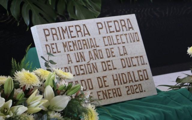 Colocan primera piedra del memorial en Tlahuelilpan - Foto de @SeGobHidalgo