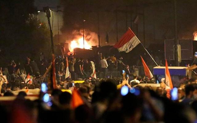 Protestas antigubernamentales en Bagdad dejan dos muertos - Protestas antigubernamentales en Bagdad. Foto de Dirilis Postasi