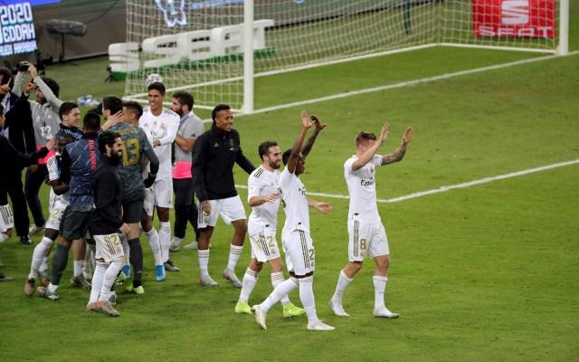 Los penaltis coronan al Real Madrid en la Supercopa - Real Madrid, Campeón de la Supercopa de España. Foto de EFE/Juanjo Martín