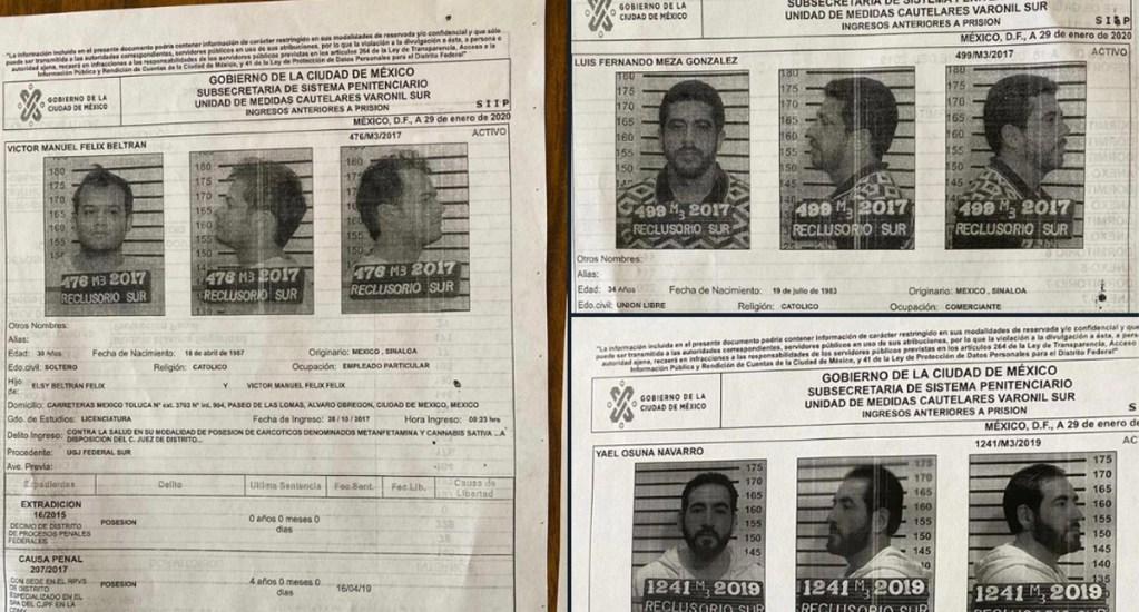 Se fugaron tres reos del Reclusorio Sur, uno es operador de 'El Chapo' Guzmán - Se tratan de Luis Fernando Meza González y Víctor Manuel Félix Beltrán, recluidos por delitos contra la salud; así como Yael Osuna Navarro, acusado por asociación delictuosa