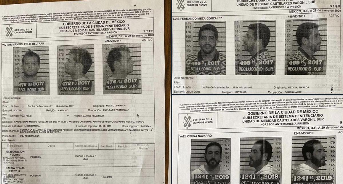 Se tratan de Luis Fernando Meza González y Víctor Manuel Félix Beltrán, recluidos por delitos contra la salud; así como Yael Osuna Navarro, acusado por asociación delictuosa