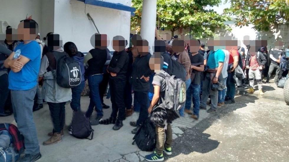 Rescatan a 117 migrantes en Las Choapas, Veracruz - Rescatan a 117 migrantes en Las Choapas, Veracruz
