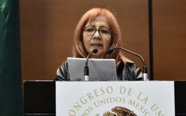 Presidenta de la CNDH evita pronunciarse sobre agresión a migrantes en la frontera sur - Foto de @Mx_Diputados