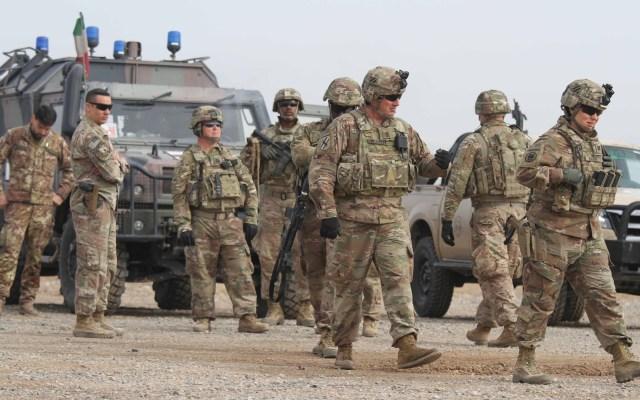 Cientos de soldados de EE.UU. comienzan su despliegue en Oriente Medio - Soldados de EE.UU. Foto de EFE