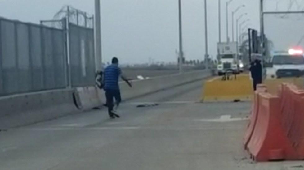 Identifican a hombre que se suicidó en el cruce fronterizo Reynosa-Pharr - Captura de pantalla