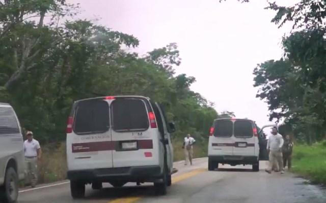 #Video Agentes de migración persiguen a migrantes en Tabasco - Tabasco INM agentes migración migrantes