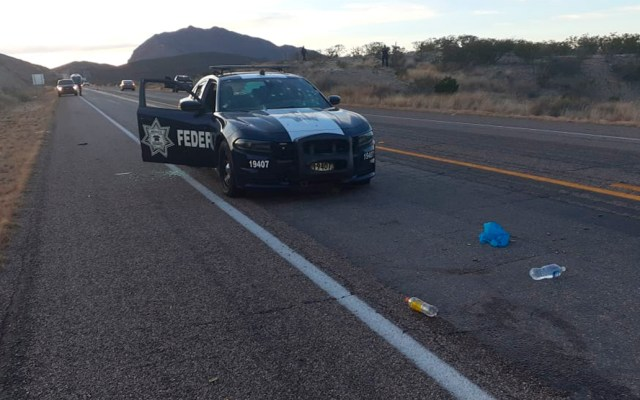 Matan en Chihuahua a dos miembros de la Guardia Nacional - Unidad de oficiales atacados en carretera Chihuahua-Ojinaga. Foto de @09Centauro