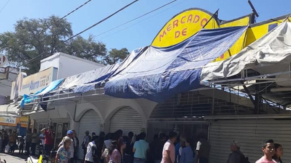Detienen en Guerrero a once personas por robo de 100 piezas de joyería - Veinte locales del Mercado de Joyería de Iguala fueron asaltados. Foto de @robertoalvarezheredia