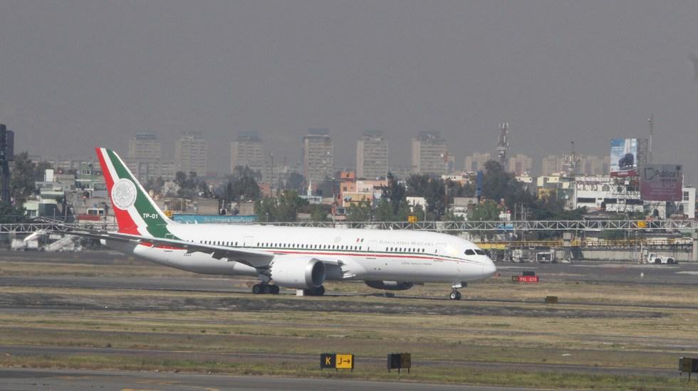 Gobierno de México agradece apoyo de empresarios para rifa del avión presidencial - Avión Presidencial TP-01. Foto de Notimex