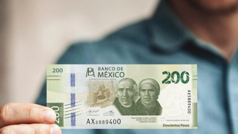 Disminuye estimación en caída del PIB en México, señala encuesta de Citibanamex - Billete de 200 pesos