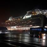 Mexicana logra bajar de barco en cuarentena por coronavirus - Foto de EFE