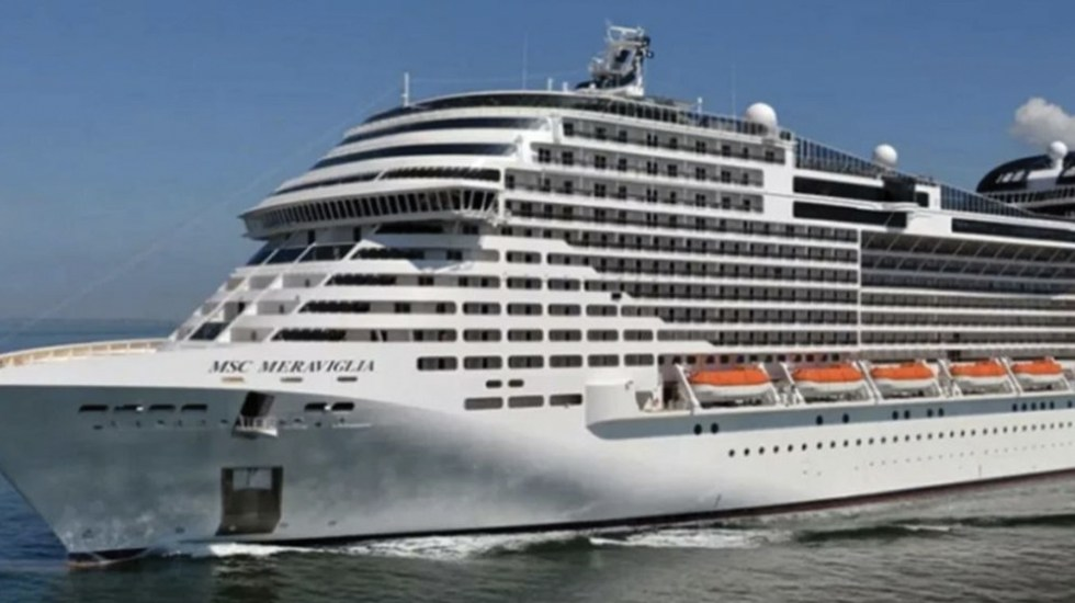 Prueba realizada a tripulante de crucero en Cozumel resulta negativa para Covid-19 - Crucero Meraviglia. Foto de Por Esto!