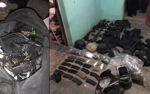 Decomisan armas, droga y vehículos en Tula, Tamaulipas - Decomiso armas equipo táctico Tula Tamaulipas